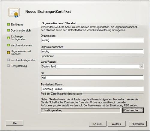 Exchange 2010 Serverzertifikat erstellen » By Malte Schoch » msblog.eu