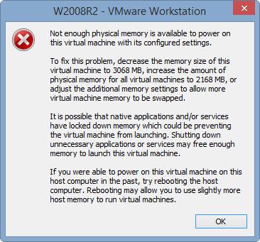 VMware_Memory_error